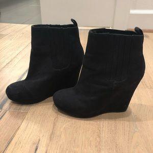 H&M Black Wedge Bootie